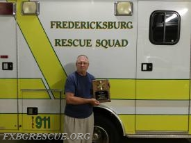 Life Member Pat O'Connell recently received his 50 years of service plaque from the rescue squad. On behalf of the rescue squad, Thank You, Pat!
