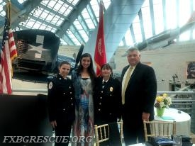From Left to Right: Chief Katrina Ramos, Mikayla Cunney, Secretary Sandy Holland, and Lieutenant Scott Davis.